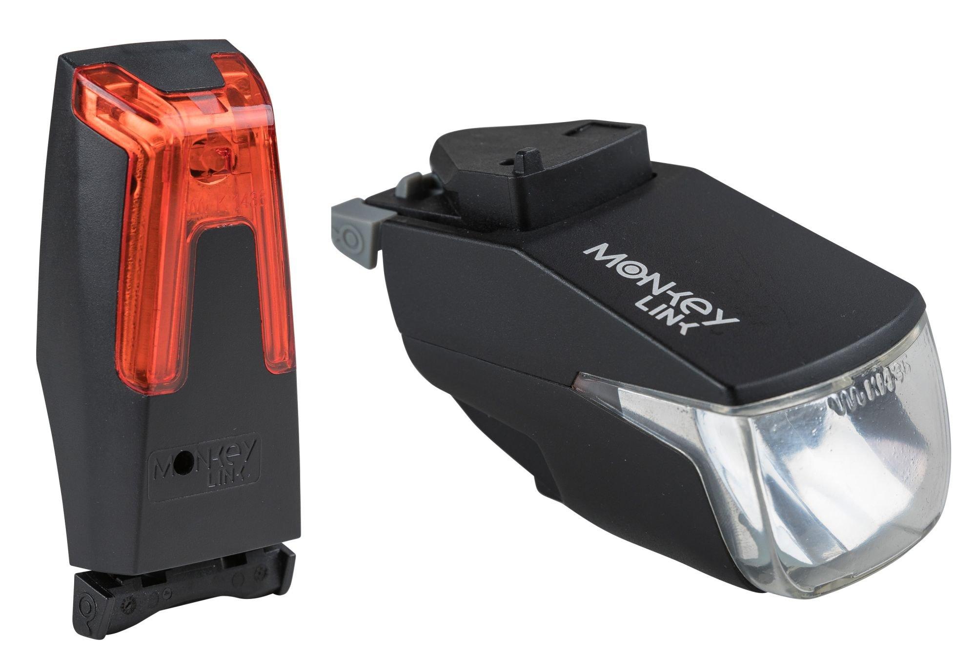 batterielicht vorne/Beleuchtung: MonkeyLink  Beleuchtungsset MonkeyLight 30 Lux Set Recharge (nur über USB aufladbar)