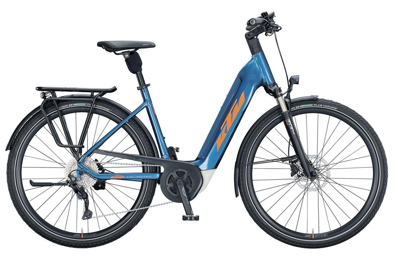 E-Bikes: KTM  MACINA TOUR P510 (500 Wh) 10 Gang Kettenschaltung Damenfahrrad Wave Modell 2021 28 Zoll 56 cm