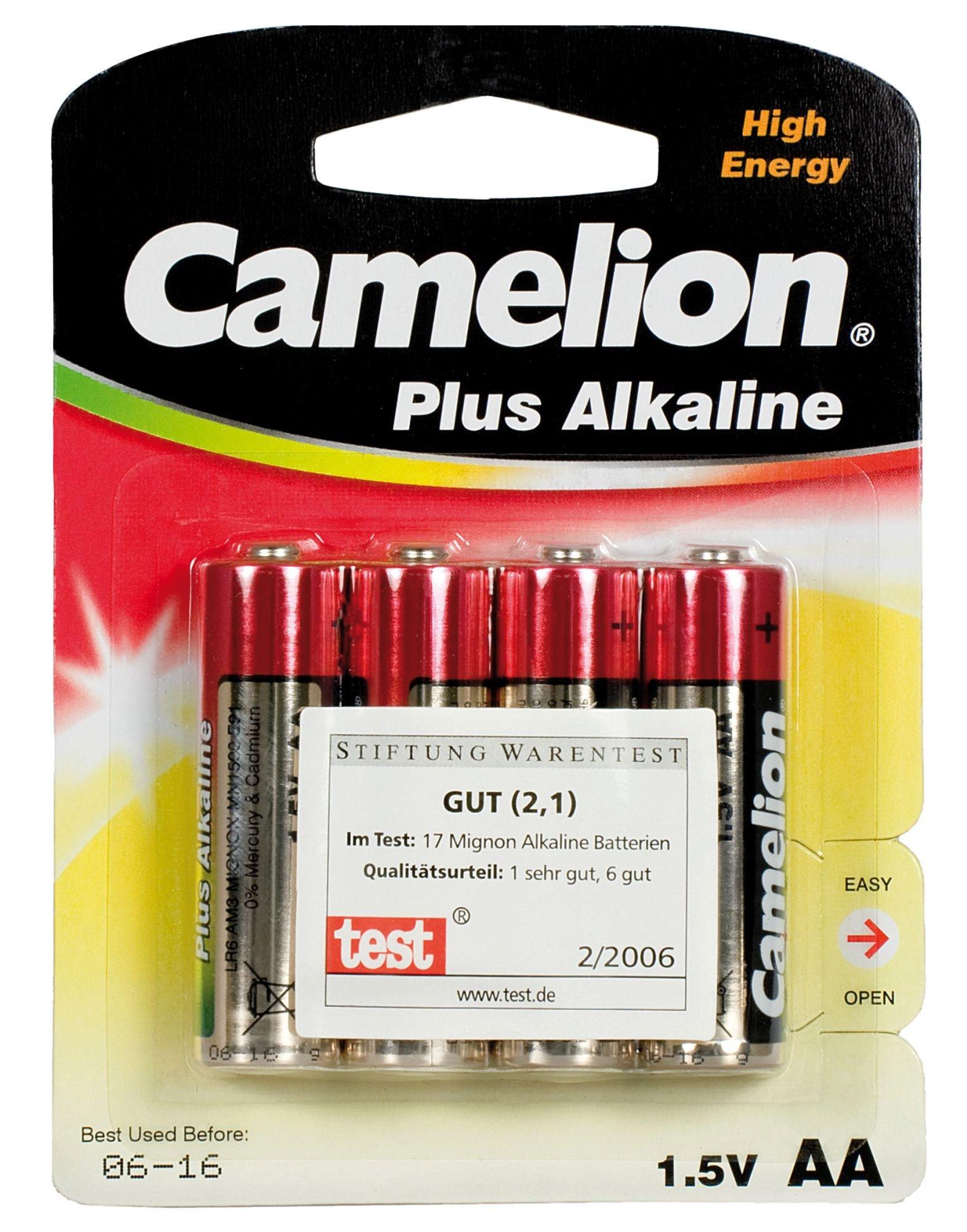 zubehör computer & pulsuhren: Camelion  Alkaline Mignon AA LR06 4Stück