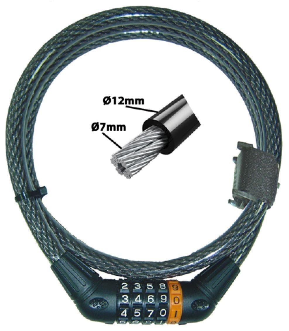 kabelschlösser/Schlösser: Security Plus  Kabelschloss mit Zahlenkombination Z69