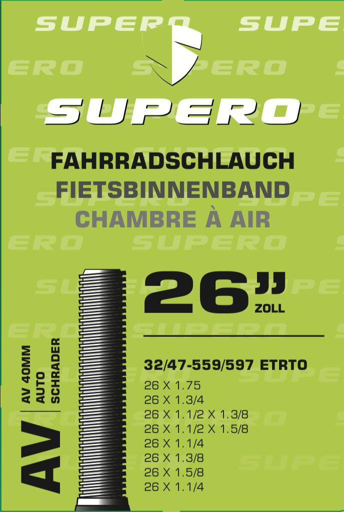 schläuche/Bereifung: Supero  Fahrradschlauch 26