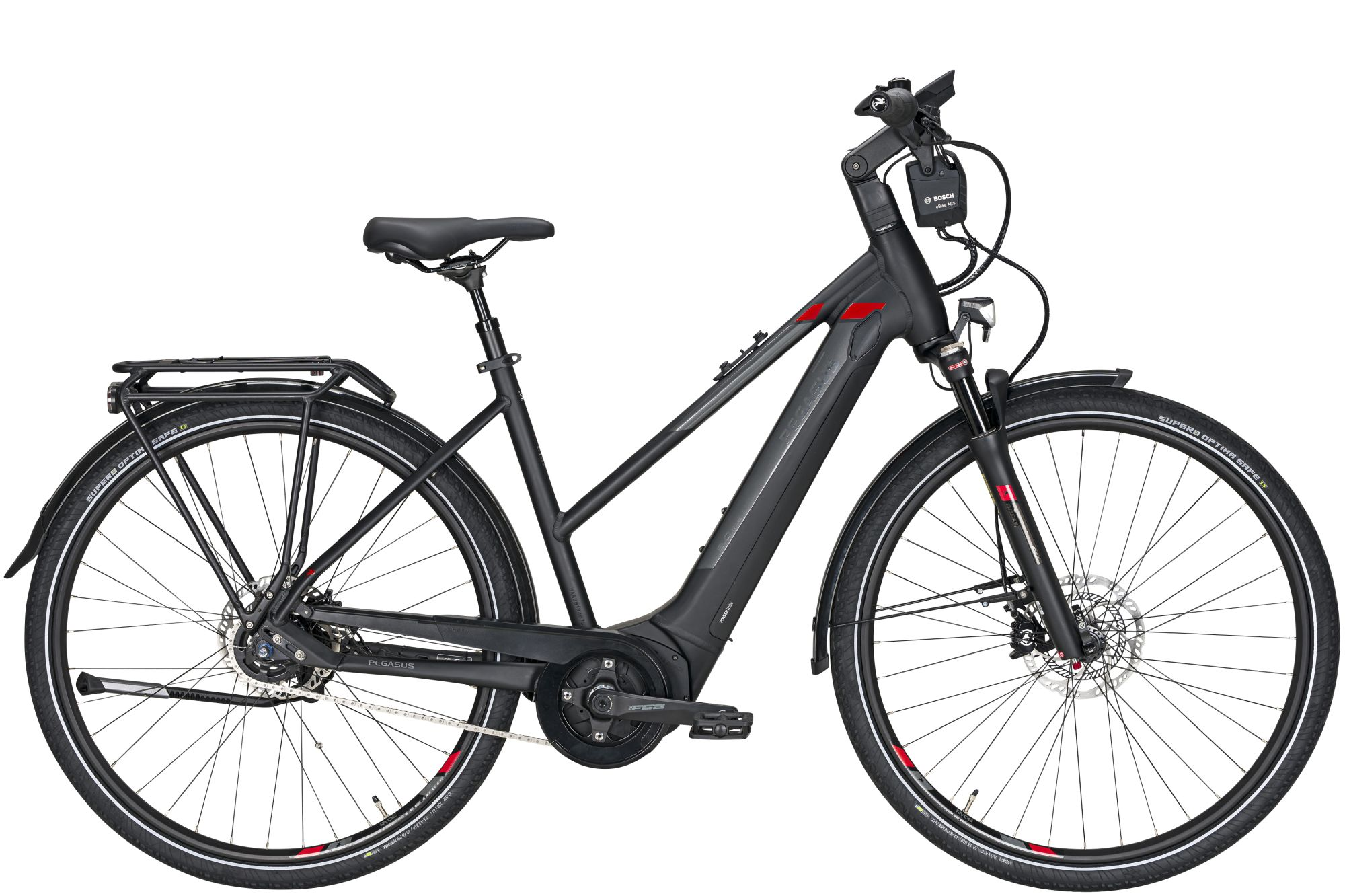 E-Bikes: Pegasus  Premio Evo 5F ABS (625 Wh) 5 Gang Nabenschaltung Damenfahrrad Trapez Modell 2021 28 Zoll 45 cm