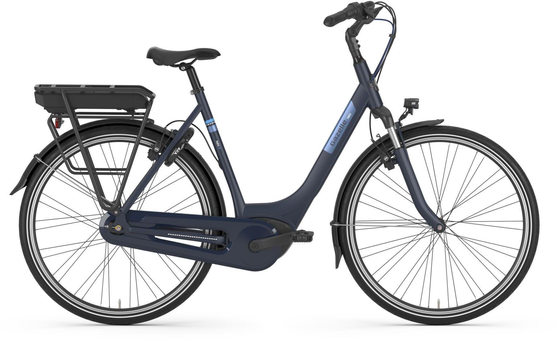 E-Bikes: Gazelle  PARIS C7 HMB R (400 Wh) 7 Gang Nabenschaltung Damenfahrrad Tiefeinsteiger Modell 2021 28 Zoll 57 cm