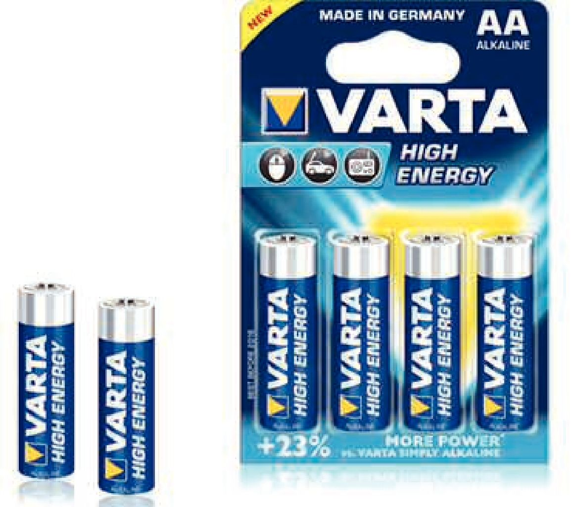 zubehör computer & pulsuhren: Varta  High Energy Mignon AA LR6 4Stück