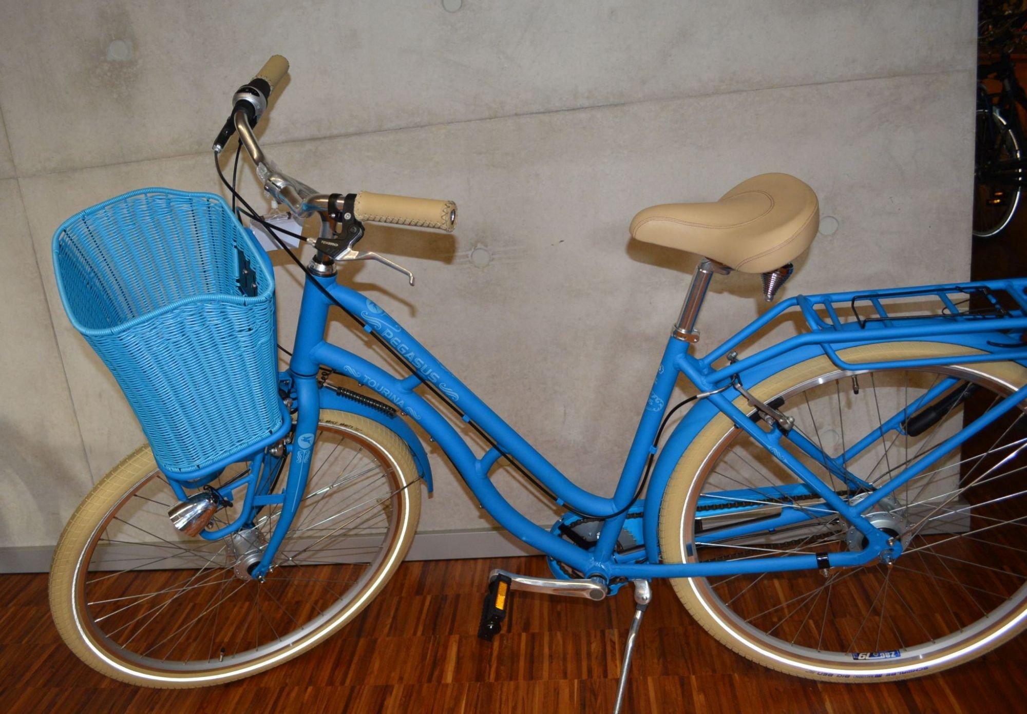 Standwell Vorderrad-Korb für Pegasus Tourina blau matt