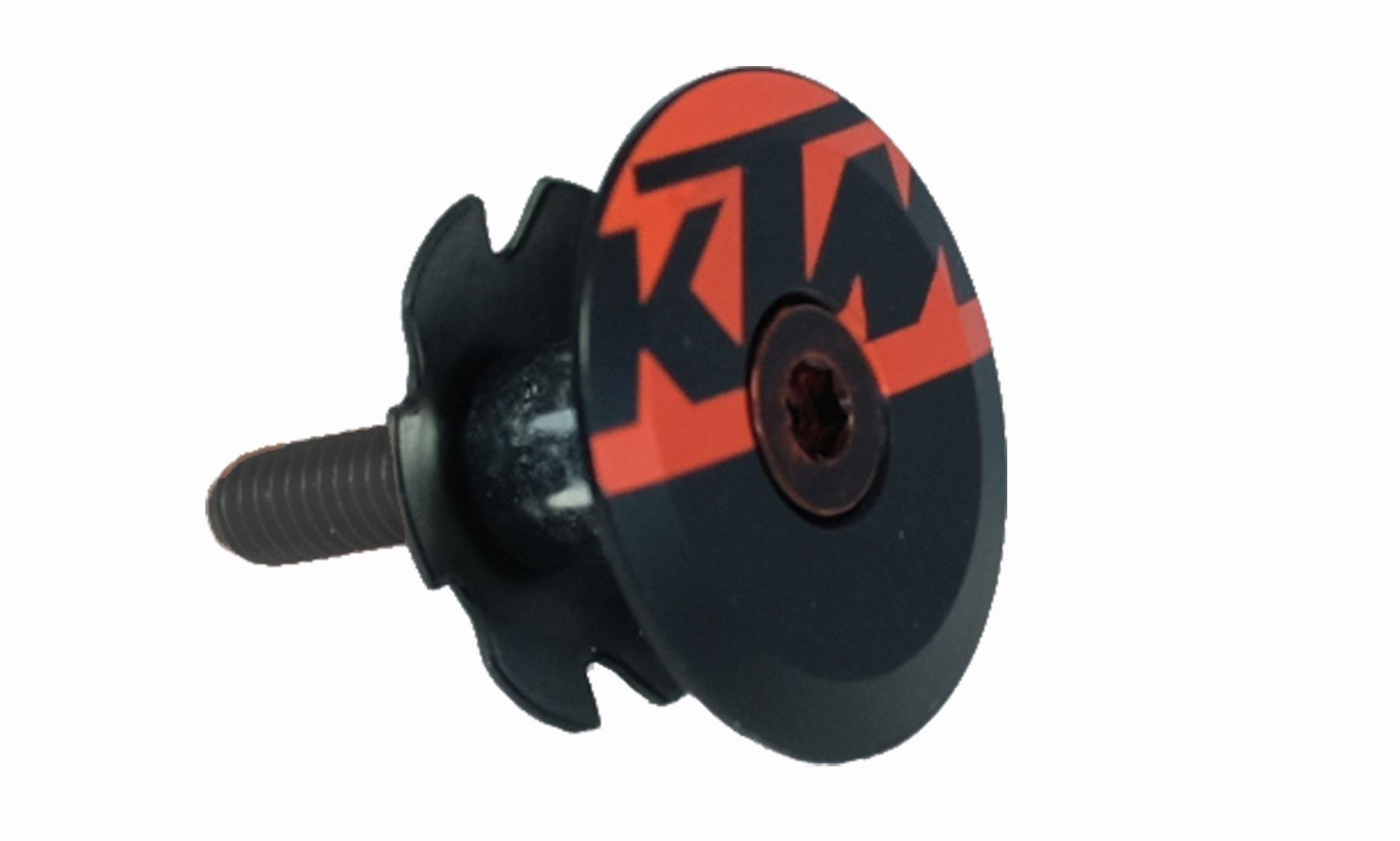 KTM Ahead Kappe Team alloy  schwarz / orange