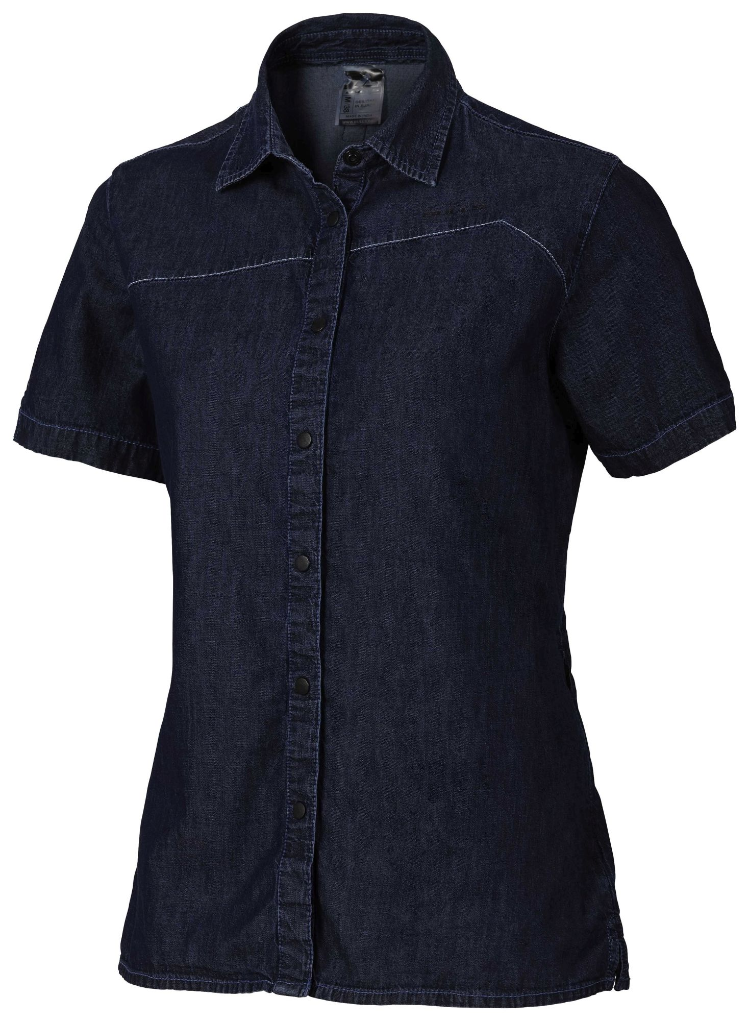 Bulls Workwear Damen kurzarm Bluse XL denim