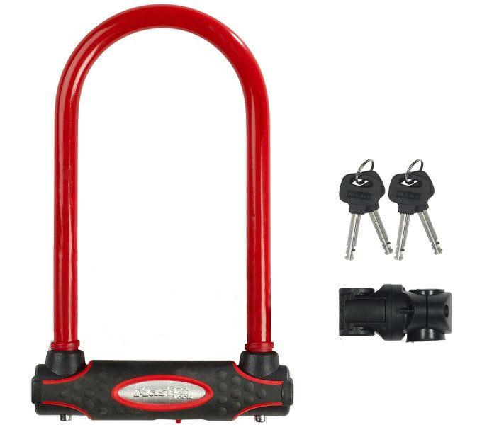 bügelschlösser/Schlösser: Master Lock  Bügelschloss 8195 13 mm x 210 mm x 110 mm Rot