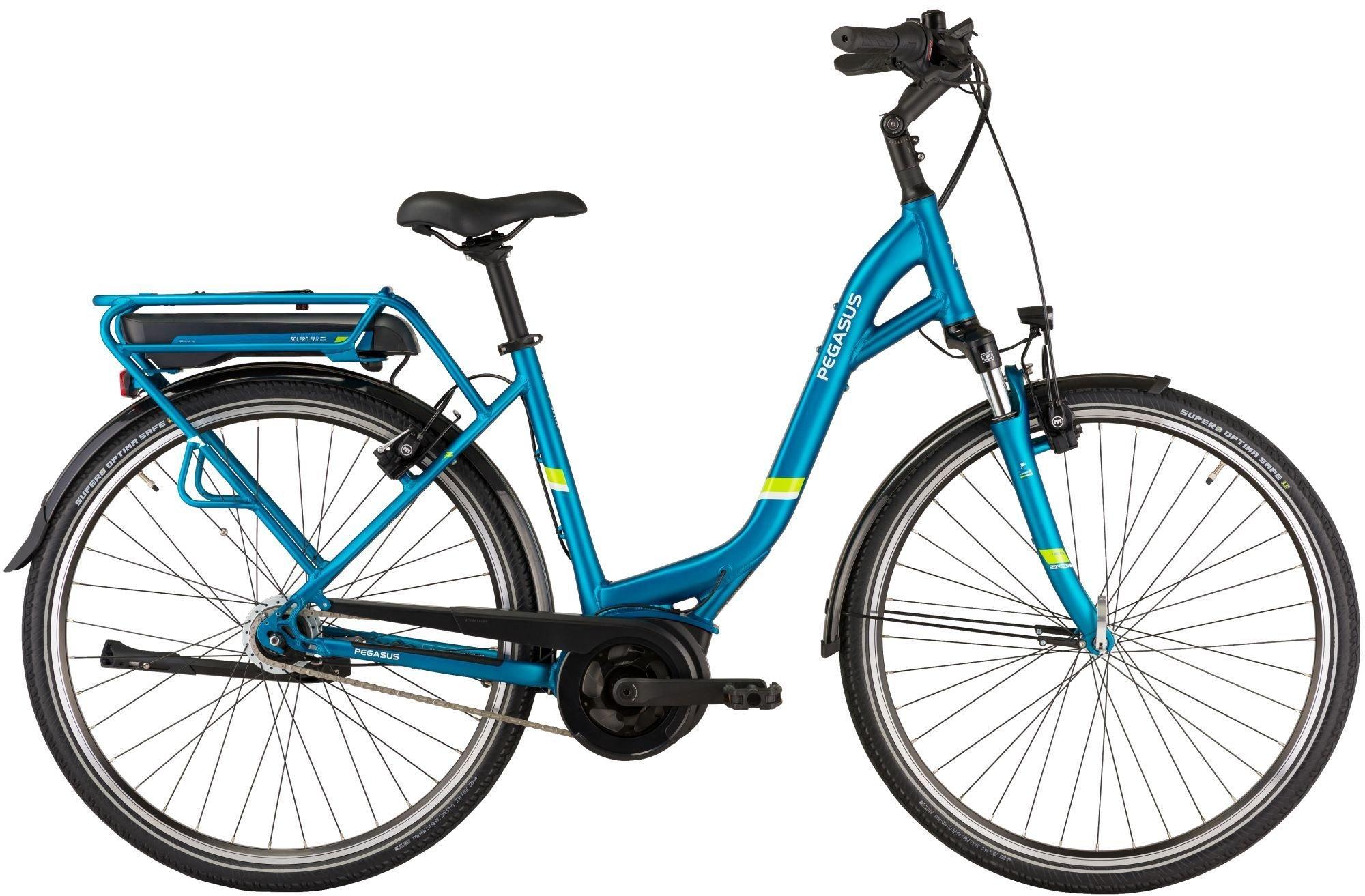 E-Bikes: Pegasus  Solero E8R Plus (400 Wh) 8 Gang Nabenschaltung Damenfahrrad Wave Modell 2021 28 Zoll 50 cm