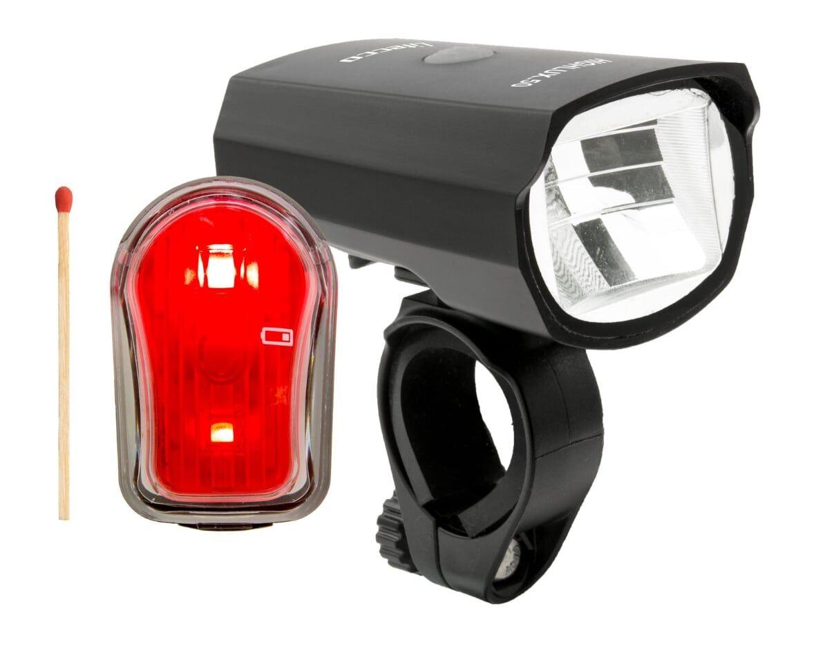 batterielicht vorne/Beleuchtung: Litecco  Fahrradbeleuchtung-Set Set HIGHLUX.50 & CANDO