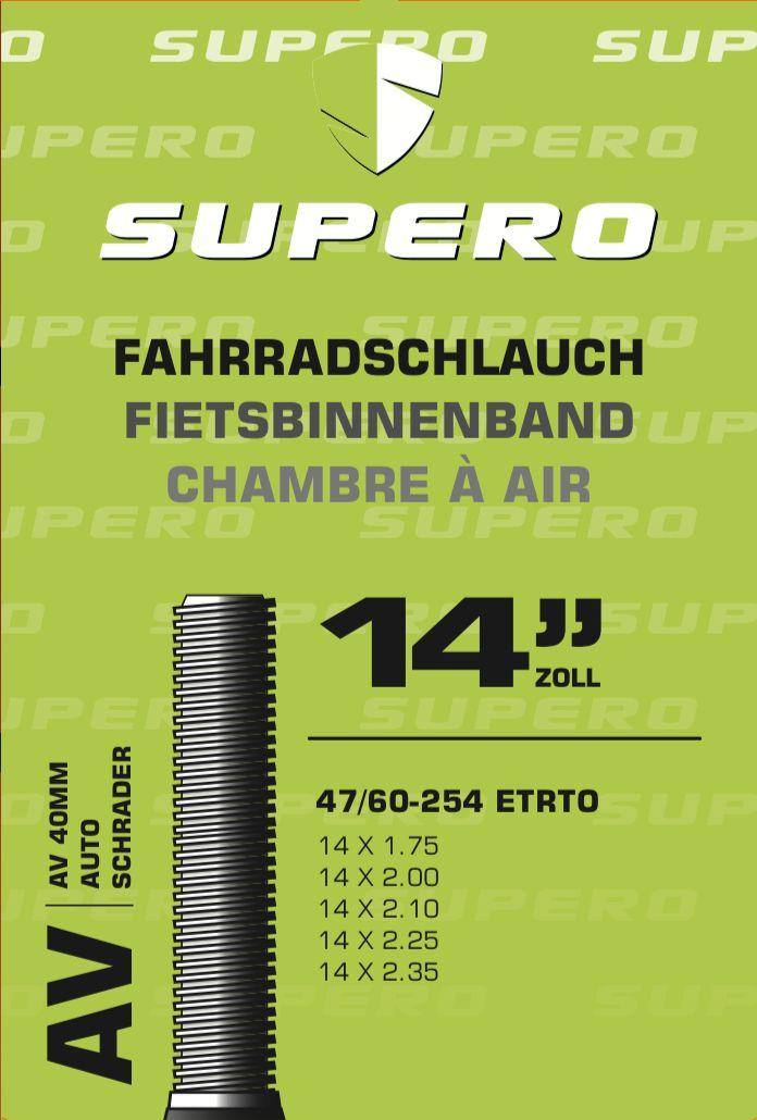 schläuche/Bereifung: Supero  Fahrradschlauch 14