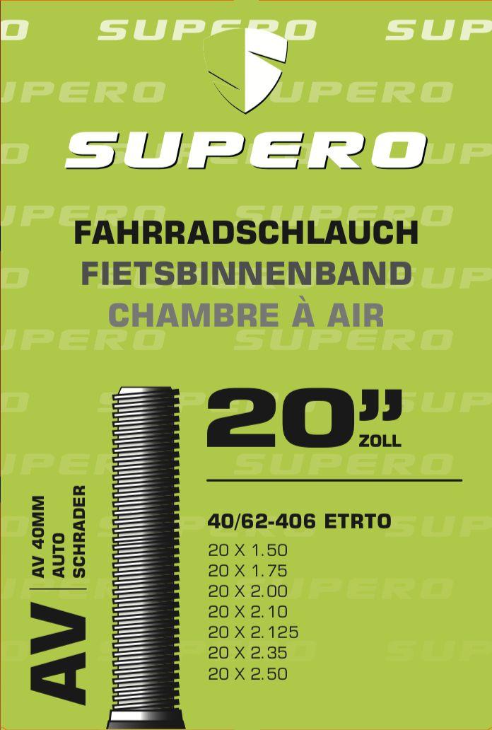schläuche/Bereifung: Supero  Fahrradschlauch 20