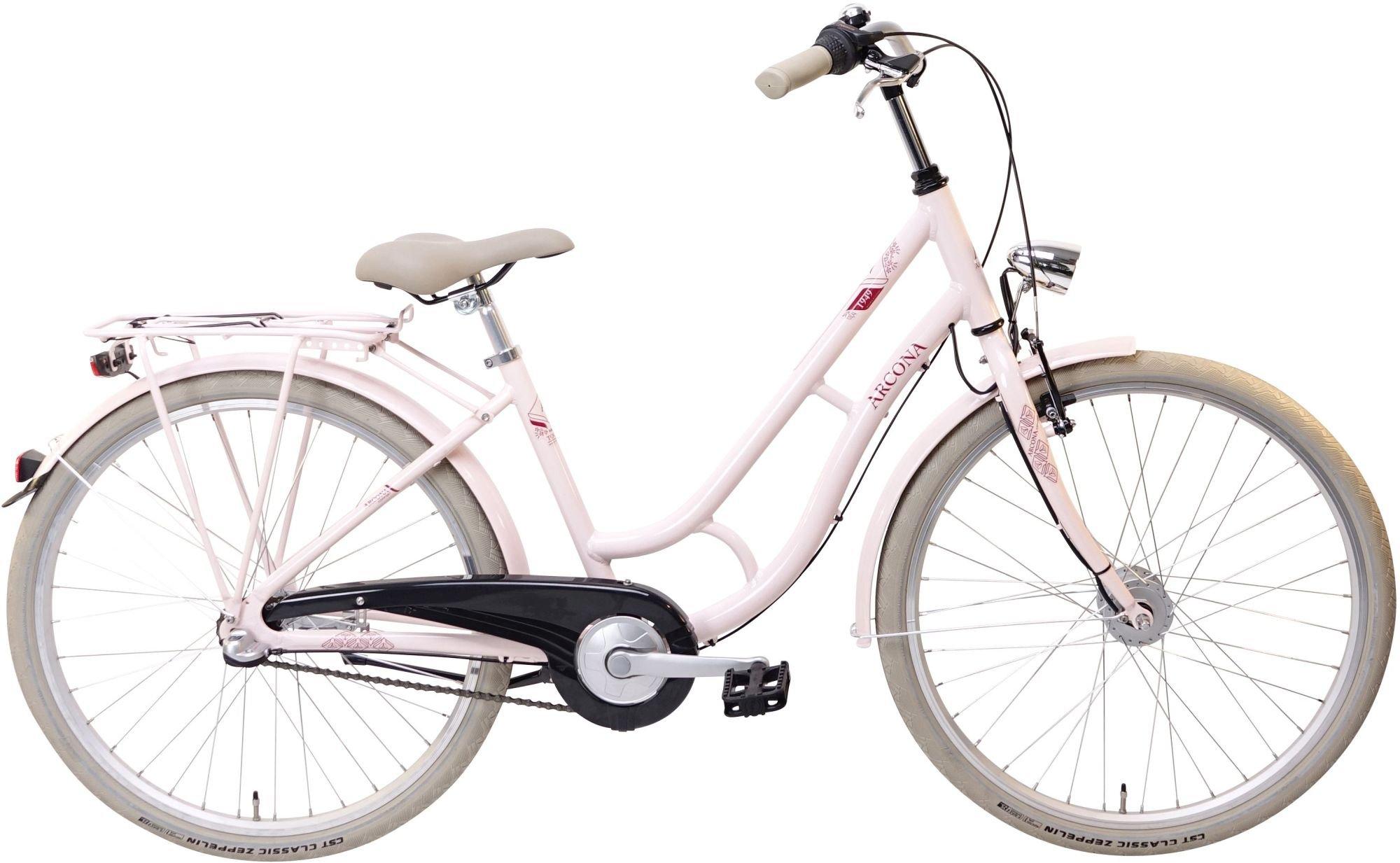 street-Fahrräder/Kinder und Jugendräder: ARCONA  1949 3 Gang Nabenschaltung Mädchenfahrrad Wave Modell 2020 26 Zoll 40 cm Sakura-