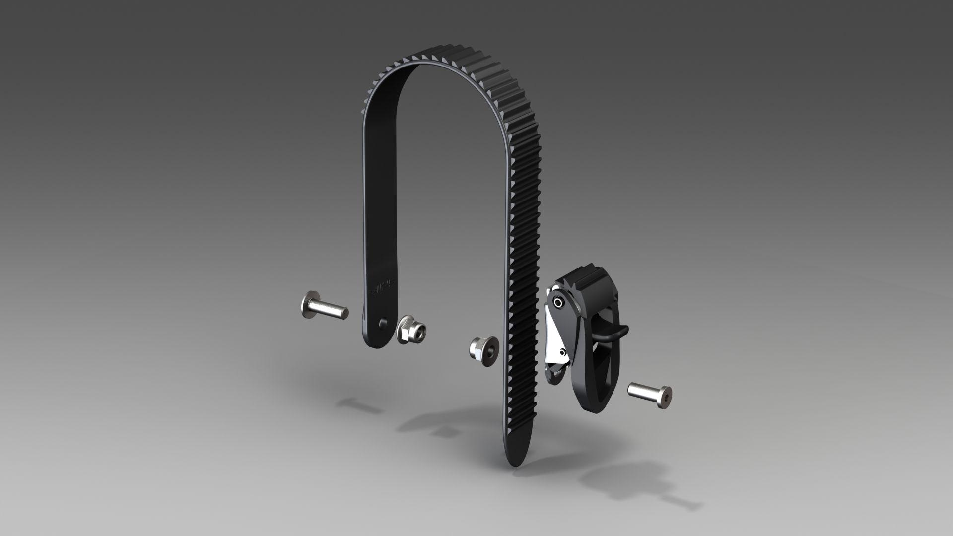 autodach- und fahrradträger: Uebler  Ratsche Komplett rechts inkl.Zahnriemen E1566 R