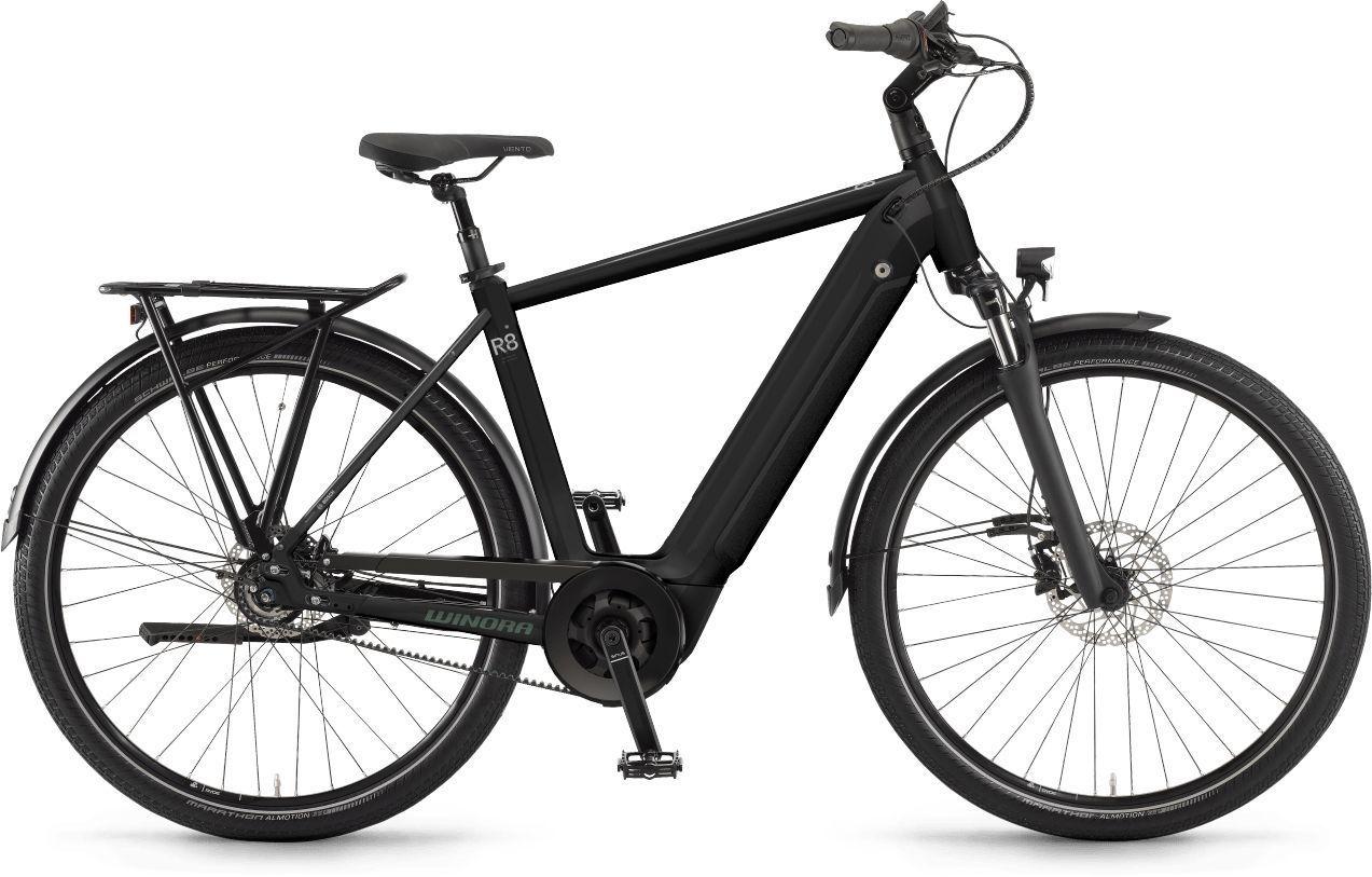 E-Bikes/Citybikes: Winora  Sinus R8f 8 Gang Nabenschaltung Herrenfahrrad Diamant Modell 2021 27.5 Zoll 60 cm