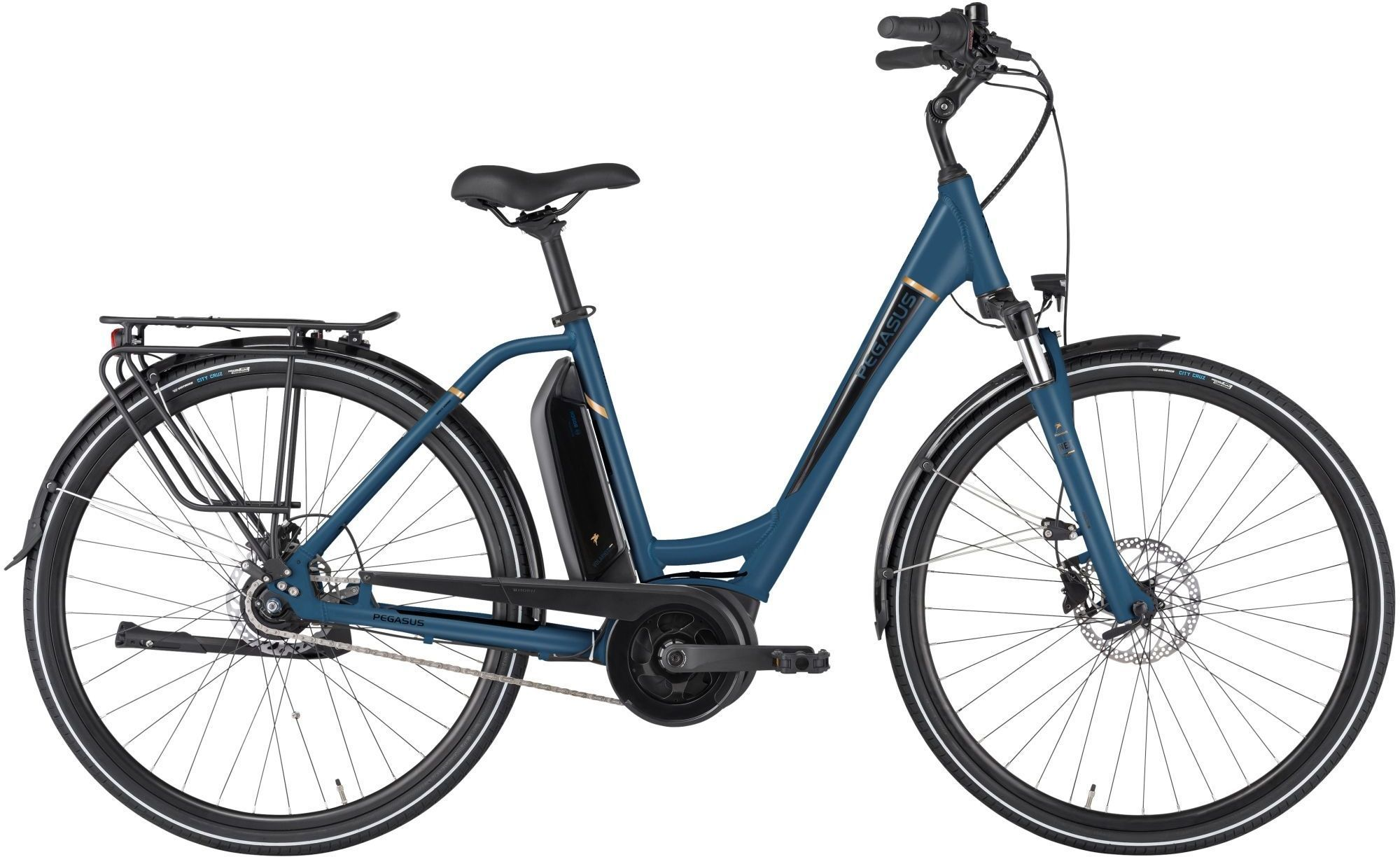 E-Bikes: Pegasus  Ancura E8R Disc (400 Wh) 8 Gang Nabenschaltung Damenfahrrad Wave Modell 2021 28 Zoll 49 cm