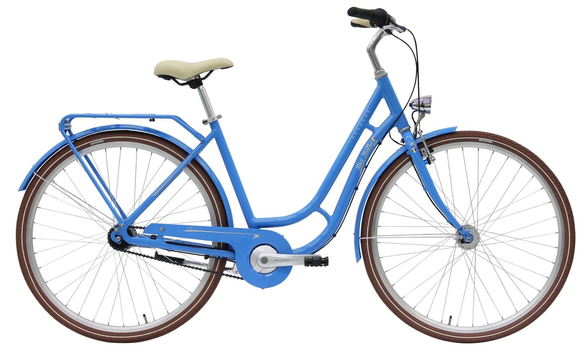 Pegasus Bici Italia 1949, 3 Gang Nabenschaltung, Damenfahrrad, Touren, Modell 2019, 28 Zoll