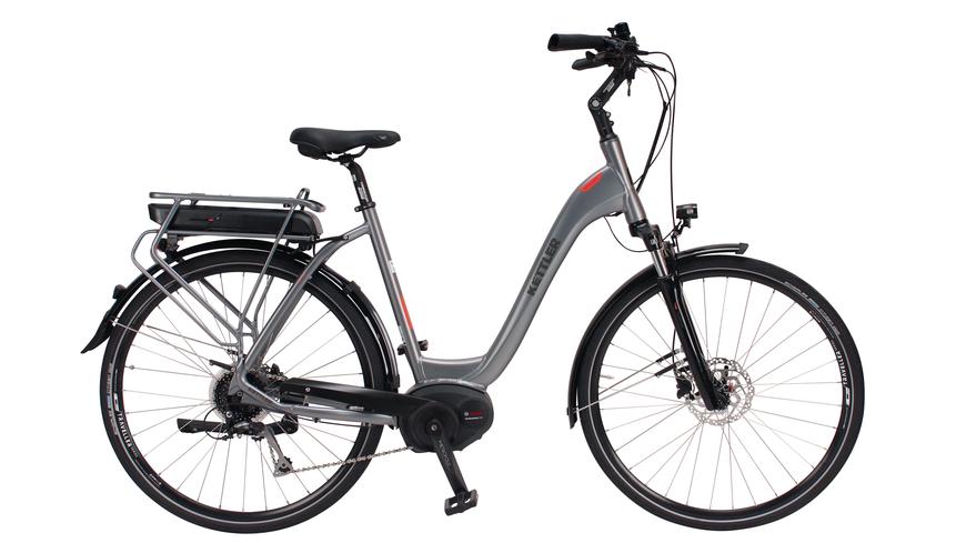 Kettler Alu Rad Traveller E Comfort (400 Wh), 8 Gang Kettenschaltung, Damenfahrrad, Wave, Modell 2018, 28 Zoll