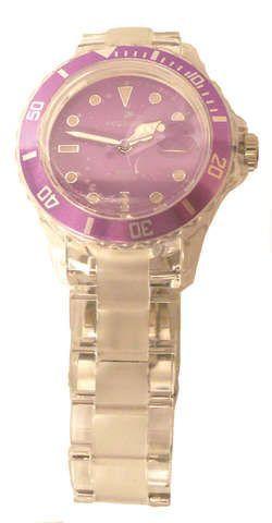 bekleidung: Pegasus  Colour Watch Transparent Armbanduhr violett40 mm