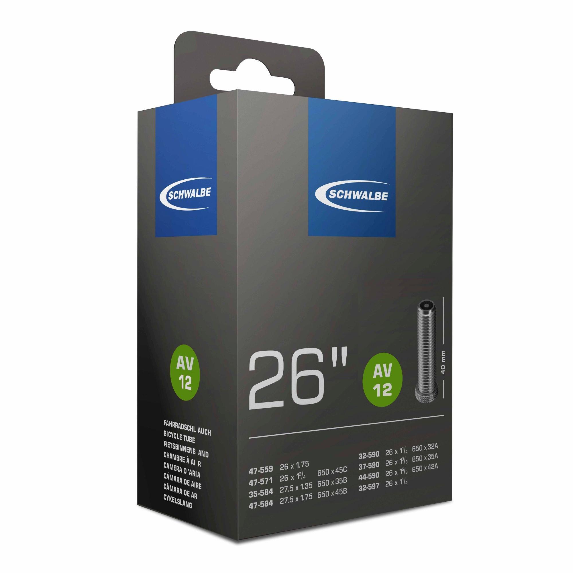 schläuche/Bereifung: Schwalbe  Fahrradschlauch AV 12  40mm