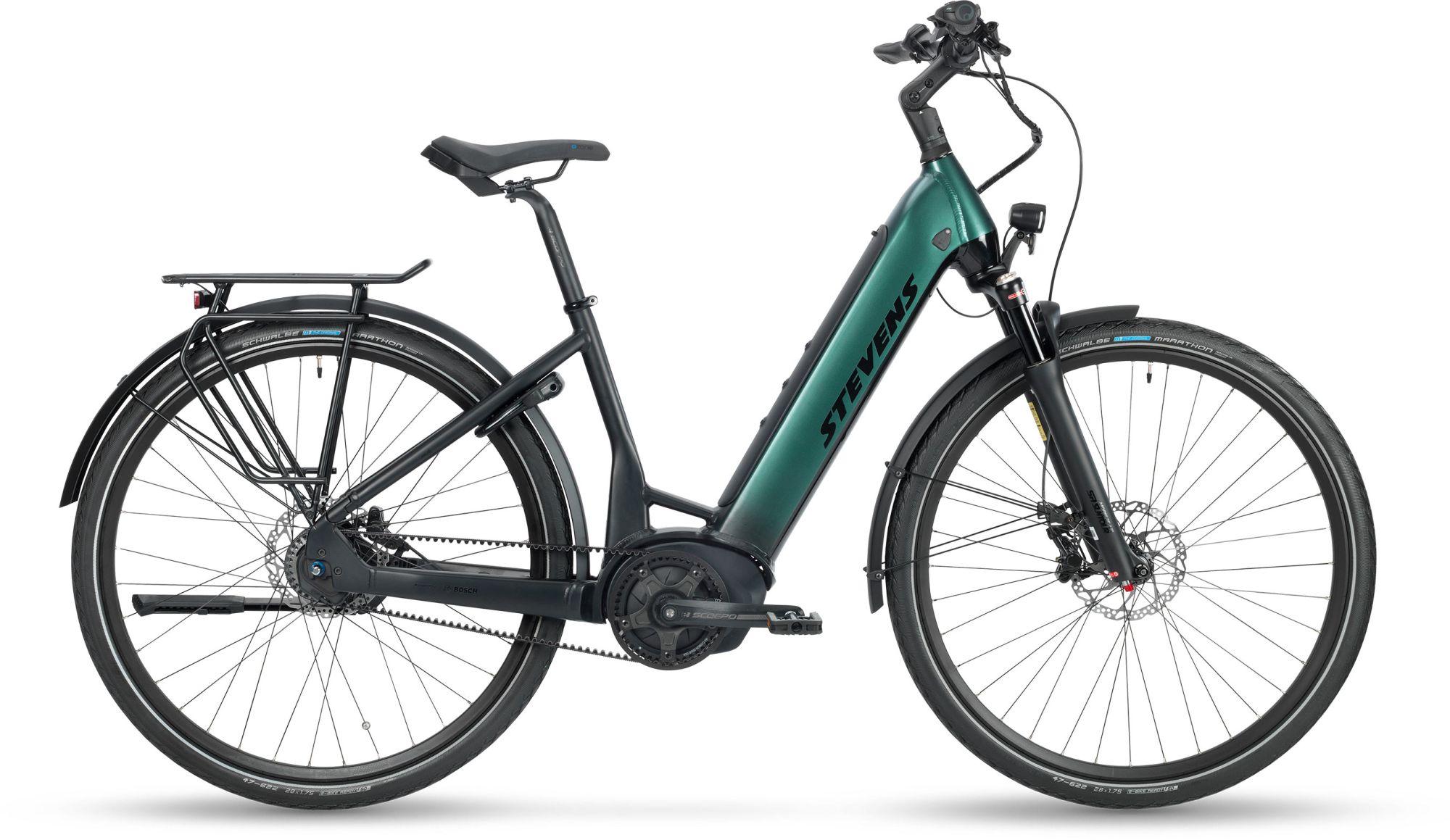 E-Bikes/Citybikes: STEVENS  E-EXEC 5 Gang Nabenschaltung Damenfahrrad Wave Modell 2021 28 Zoll 56 cm Dark Cyan