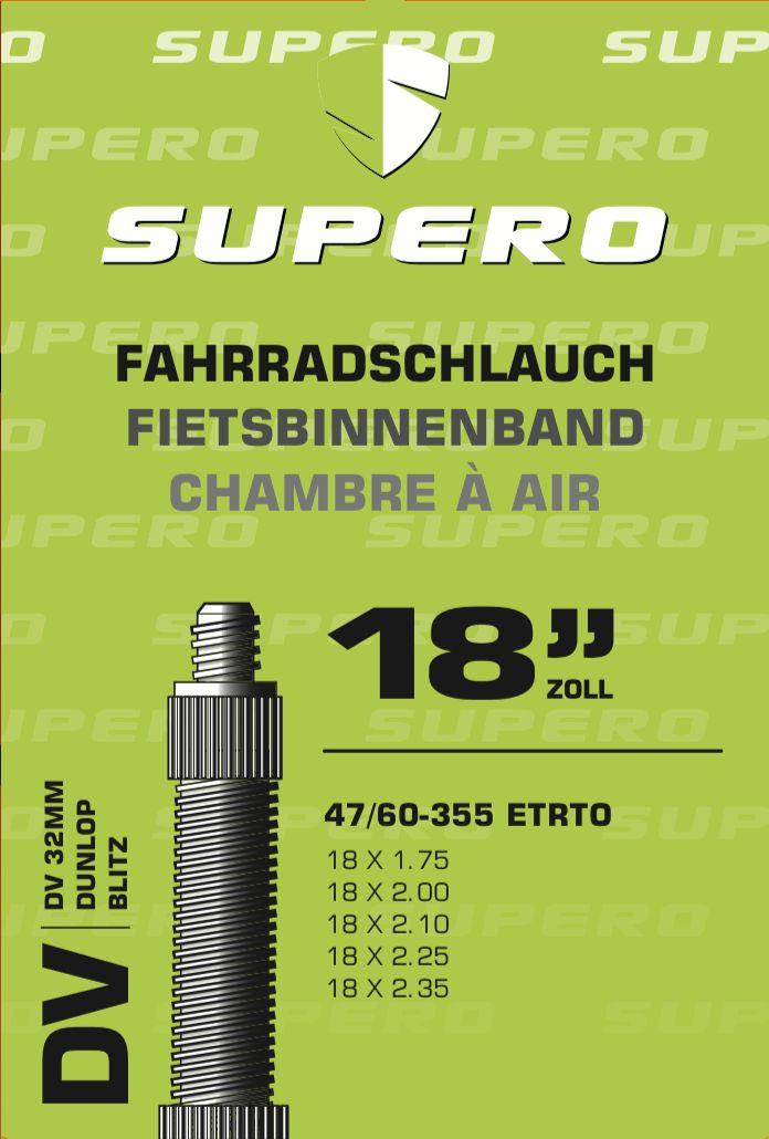 schläuche/Bereifung: Supero  Fahrradschlauch 18