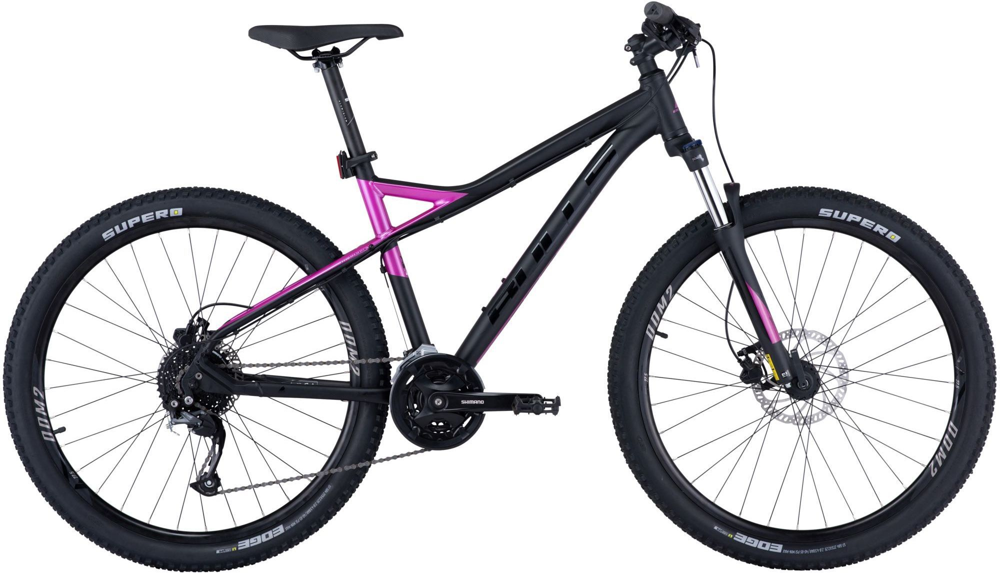 black matt/purple