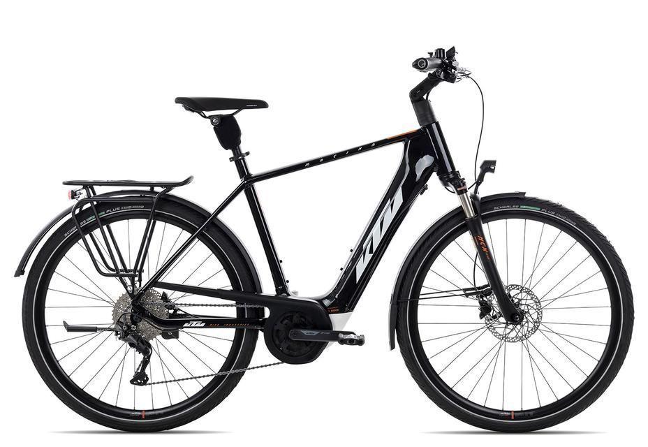 E-Bikes: KTM  MACINA TOUR P510 (500 Wh) 10 Gang Kettenschaltung Herrenfahrrad Diamant Modell 2021 28 Zoll 60 cm metallic  (white