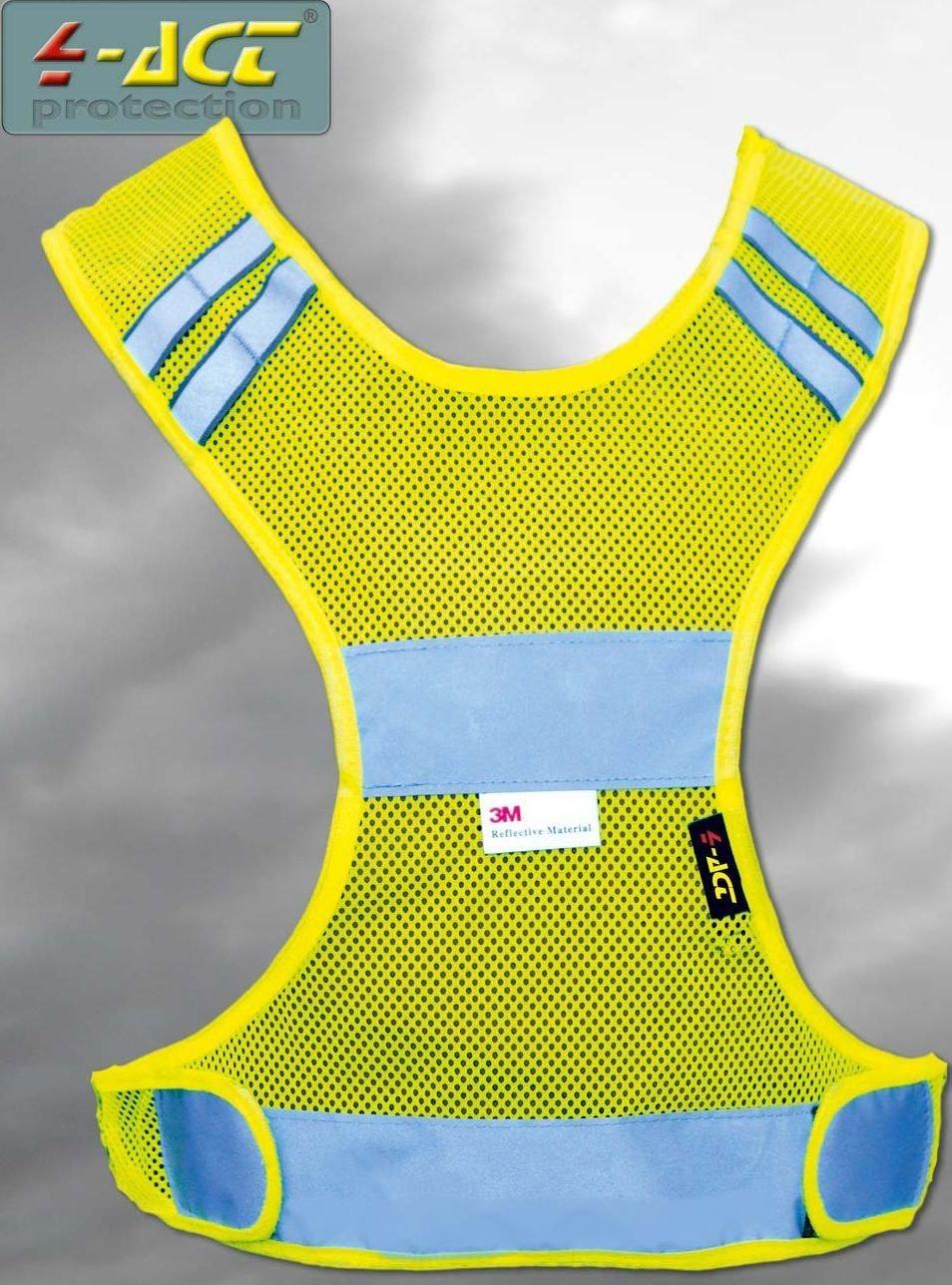 sicherheitsbekleidung/Beleuchtung: 4-Act  3MReflex Überwurfweste XL
