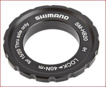 scheibenbremsen zubehör/Bremsen: Shimano  Center-Lock Ring für Steckachse 1520mm