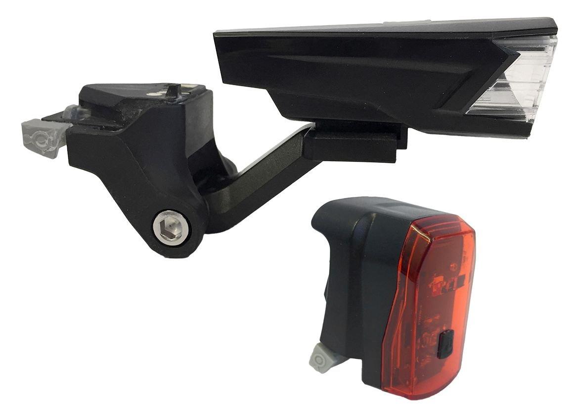 batterielicht vorne/Beleuchtung: MonkeyLink  Beleuchtungsset Phenon Set Nuuk 30ML 3015 Lux Recharge (nur über USB aufladbar)