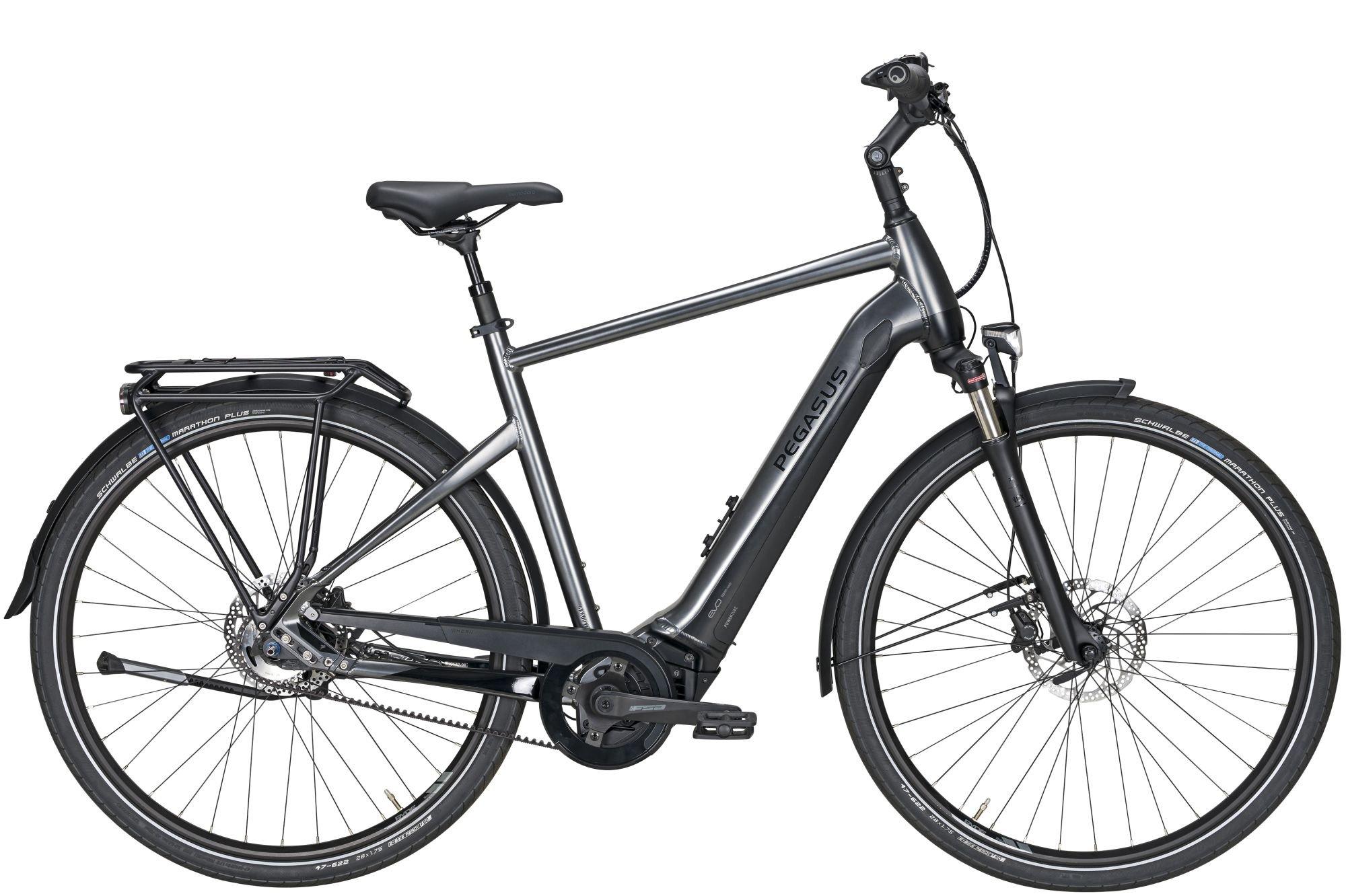 E-Bikes/Citybikes: Diamant  Premio Evo 5F Lite Belt (500 Wh) 5 Gang Nabenschaltung Herrenfahrrad Diamant Modell 2020 28 Zoll 45 cm  chrome