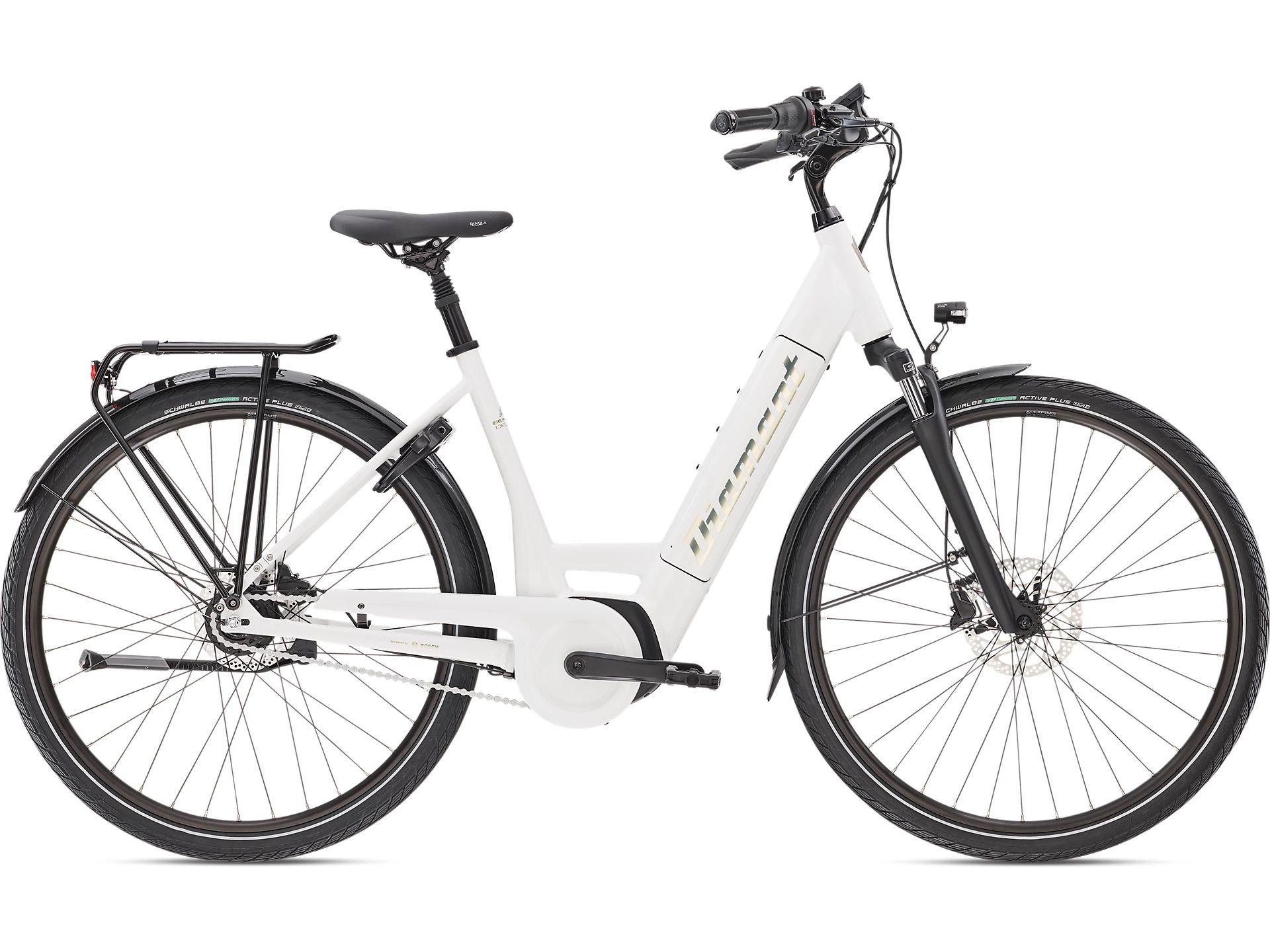 E-Bikes/Citybikes: Diamant  Beryll Deluxe+ RT TIE 8 Gang Nabenschaltung Damenfahrrad Wave Modell 2021 28 Zoll 50 cm Weiss