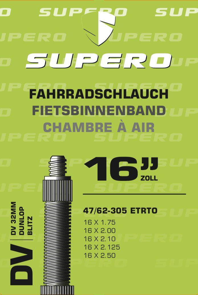schläuche/Bereifung: Supero  Fahrradschlauch 16