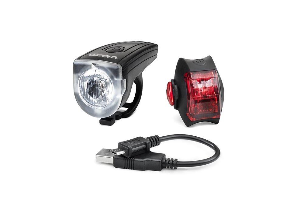 batterielicht vorne/Beleuchtung: WOOM  Beleuchtungs-Set CYCLOPE