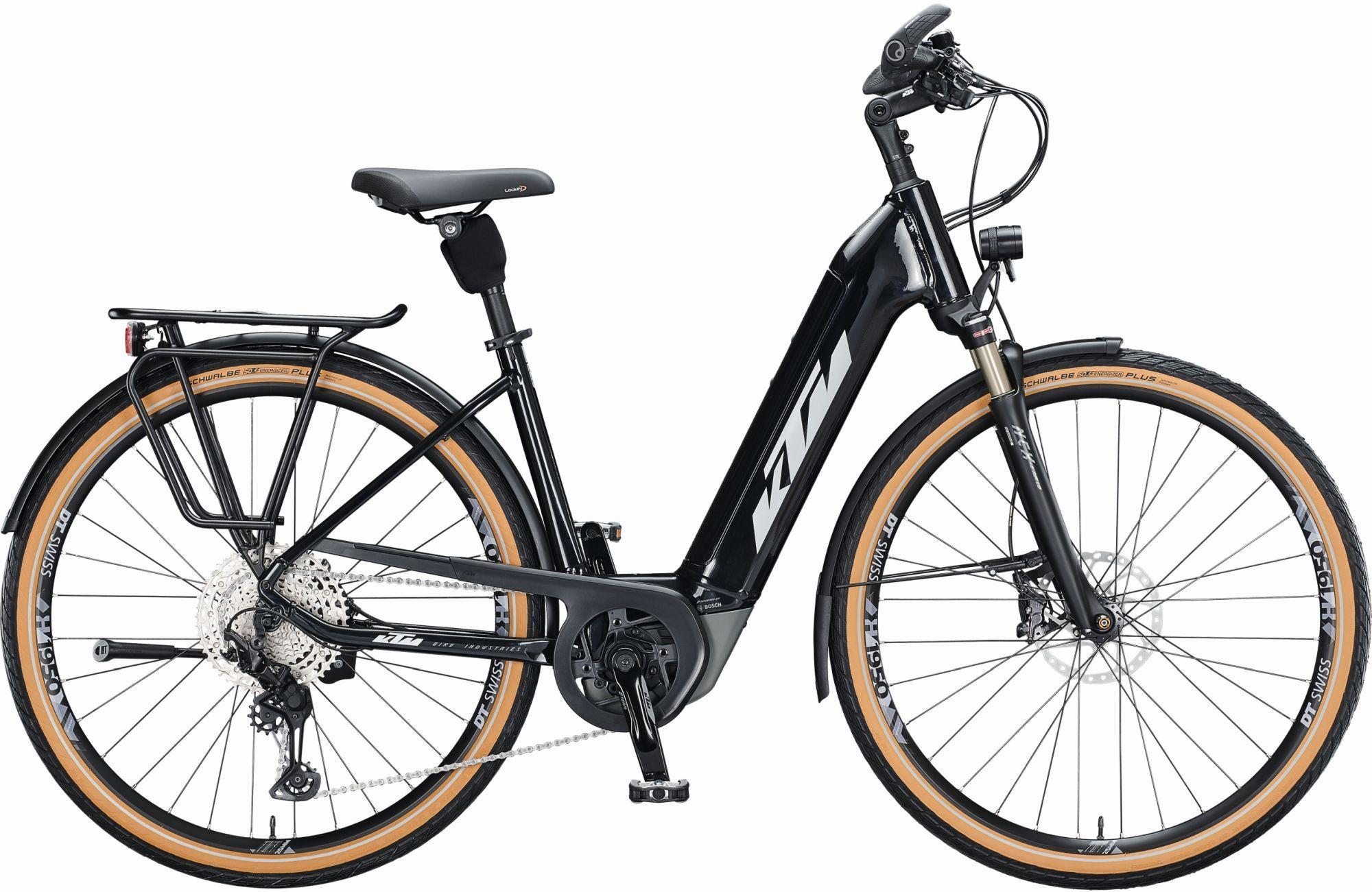E-Bikes: KTM  MACINA STYLE 610 (625 Wh) 12 Gang Kettenschaltung Damenfahrrad Wave Modell 2021 28 Zoll 56 cm metallic  (silver+gr