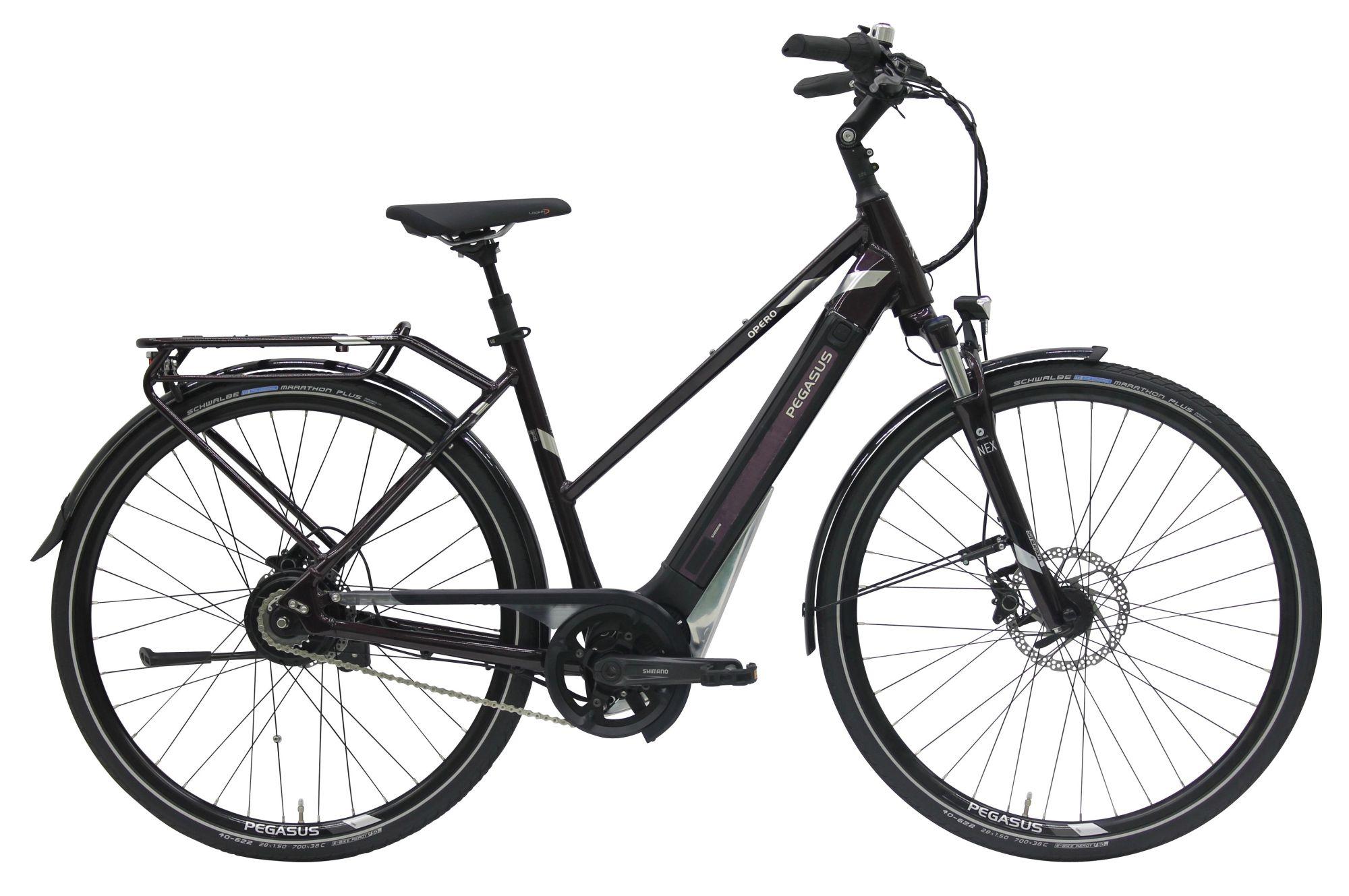 E-Bikes/Citybikes: Pegasus  Opero EVO NuE (375 Wh) 1 Gang stufenlose Nabenschaltung Damenfahrrad Trapez Modell 2018 28 Zoll 53 cm