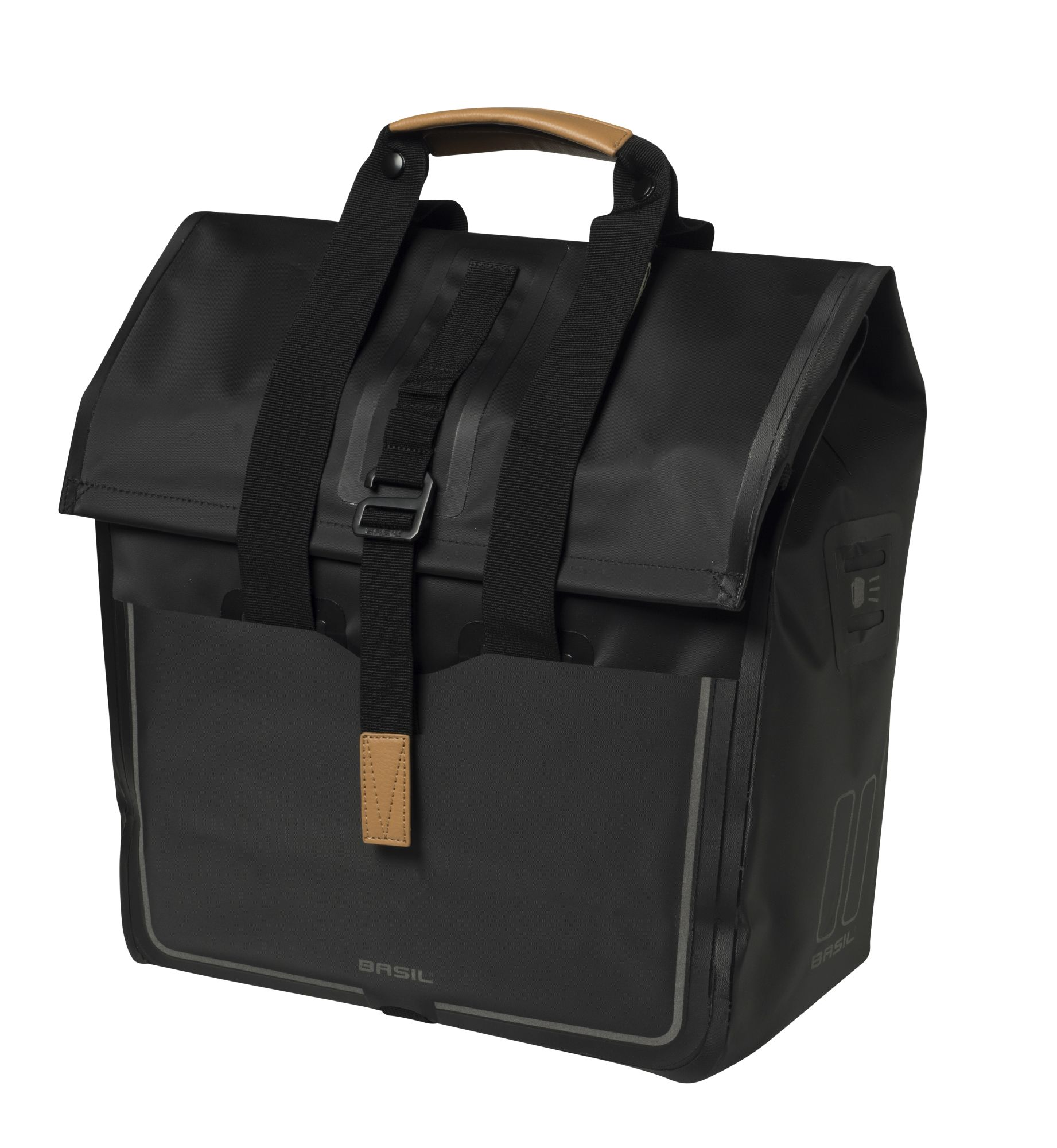 Basil Fahrradtasche 25L matt black Urban Dry Shopper