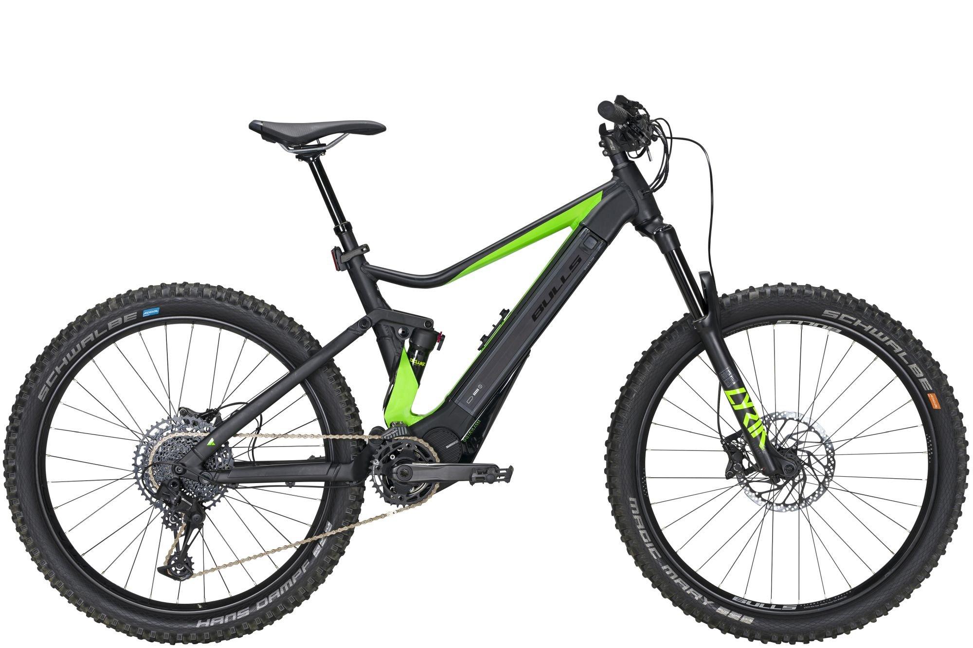 fullsuspensions/E-Mountainbikes: Bulls BULLS E-Core Evo AM 1 275+ (375 Wh) 12 Gang Kettenschaltung Herrenfahrrad MTB Full Suspension Modell 2020 275+ Zoll 44 cm