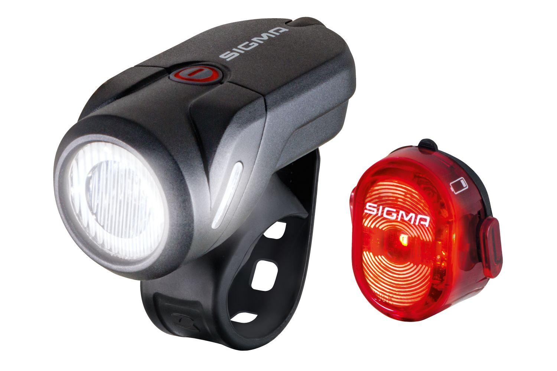 batterielicht sets/Beleuchtung: Sigma  Beleuchtungsset Aura 35 + Nugget II