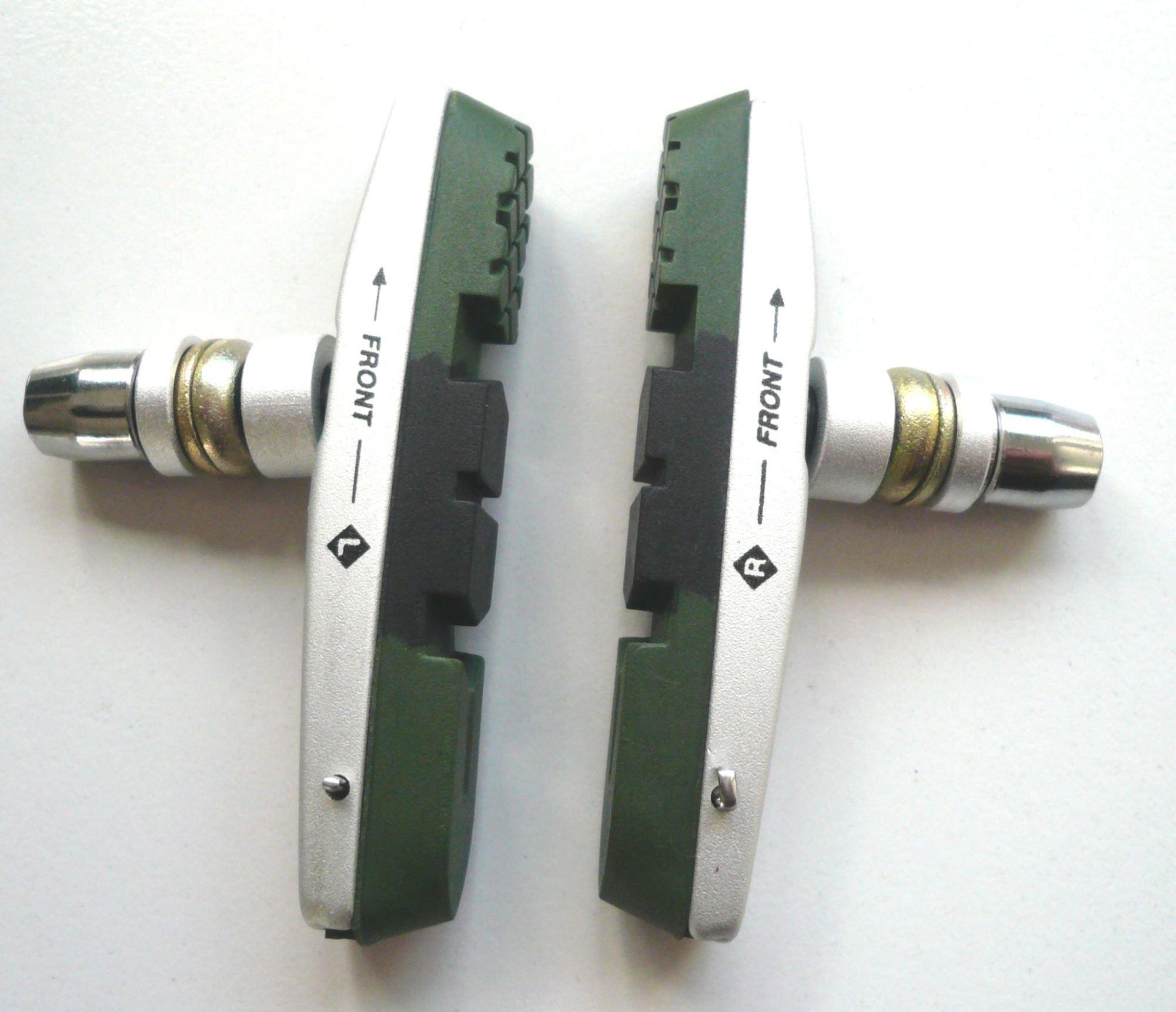 felgenbremsbeläge/Bremsen: Fuxon  Bremsschuh V-Brake 72mm 3-farbig Paar