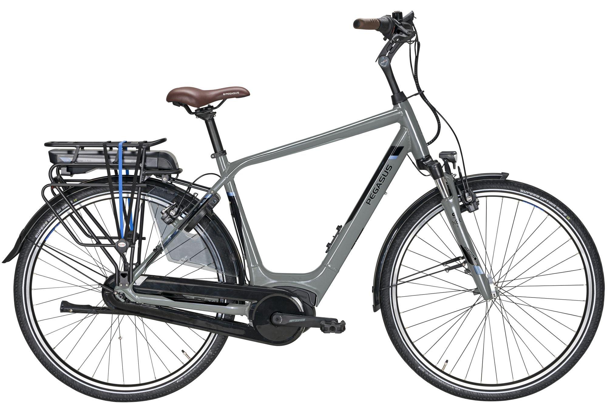 E-Bikes/Citybikes: Pegasus  Siena E8F Plus (500 Wh) 8 Gang Nabenschaltung Herrenfahrrad Trekking Modell 2020 28 Zoll 50 cm