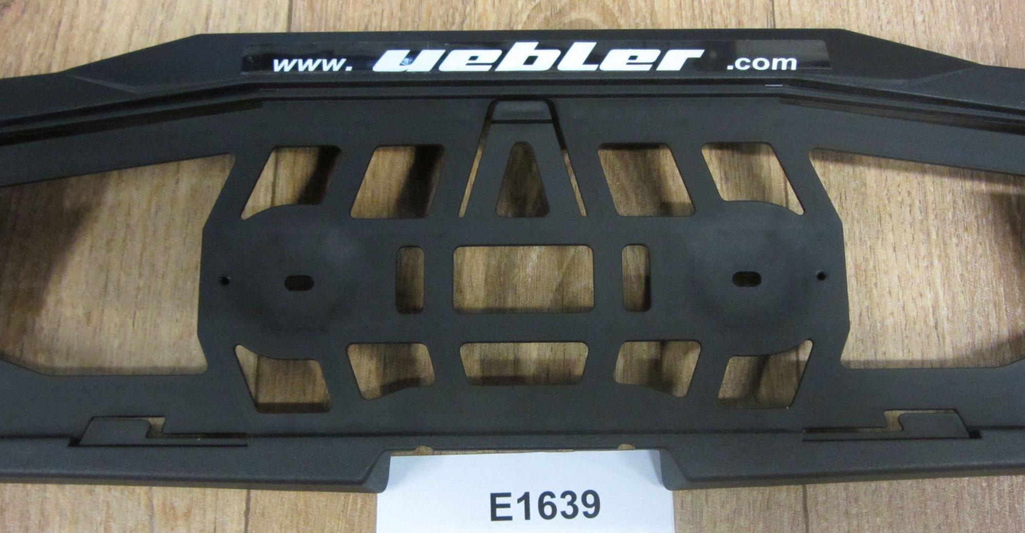 fahrradträgerzubehör: Uebler  Kennzeichenträger E1639