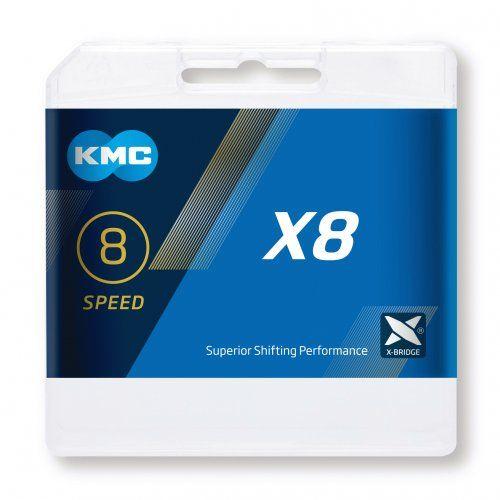 "KMC Kette X8, 3/32"" 114/116 Gl. silber"