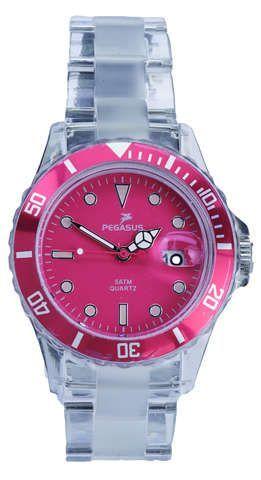 bekleidung: Pegasus  Colour Watch Transparent Armbanduhr 40 mm