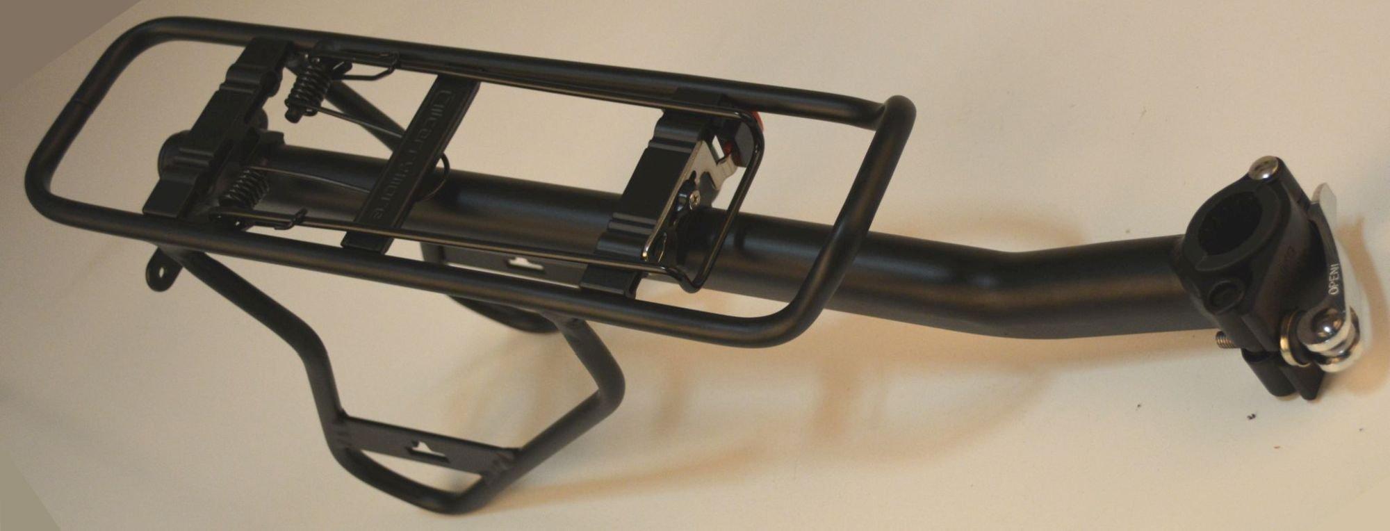 Carrymore i-Rack Sattelstützgepäckträger mit Packtaschenstreben für 26 Zoll, schwarz