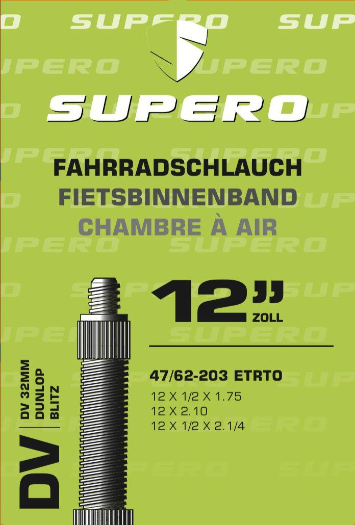 schläuche/Bereifung: Supero  Fahrradschlauch 12