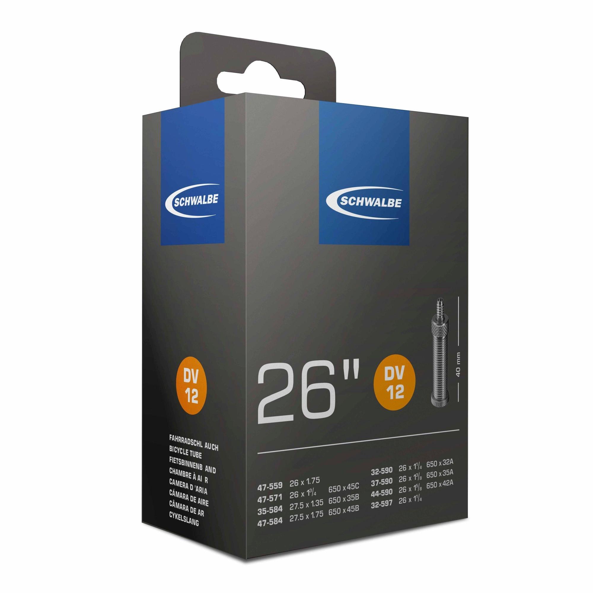 schläuche/Bereifung: Schwalbe  Fahrradschlauch DV 12  40mm