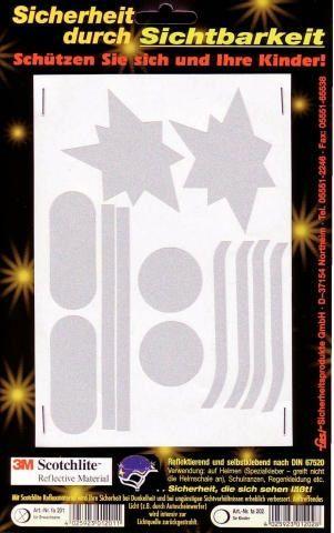 reflektoren/Beleuchtung: Fasi  3M Reflex-Aufkleber 12-teilig