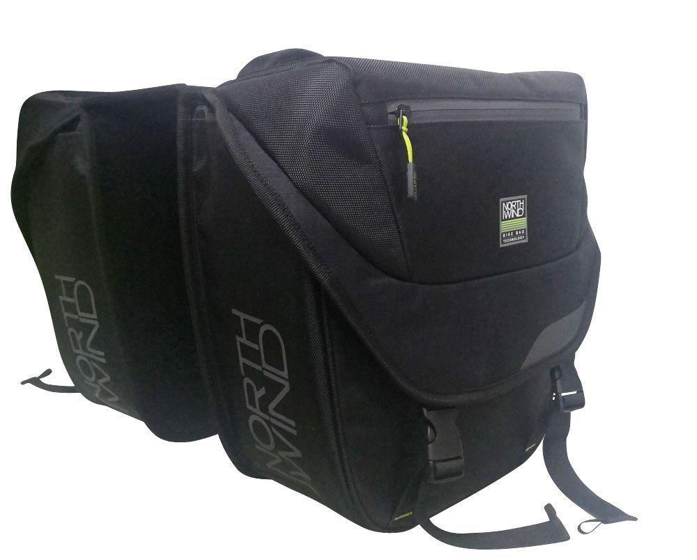 Northwind Doppeltasche i-Rack II (sw/lime)
